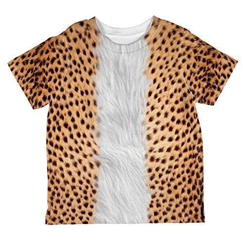 Kostüm Halloween Cheetah ganzen Kleinkind T Shirt Multi 2 t (Kinder Kostüme Cheetah)
