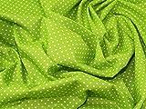 Spotty, Baumwolle, Canvas-Stoff -, Meterware, Lime Green