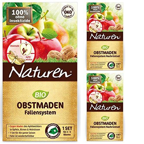 Naturen Obstmaden-Falle gegen Apfelwickler + 2 Nachfüller-Sets