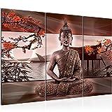 Cuadro Buda Feng Shui Decoración de Pared 120 x 80 cm Forro polar - Lienzo...