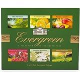 Ahmad Tea Evergreen Selection of 6 Green Teas, 60 Enveloped Teabags
