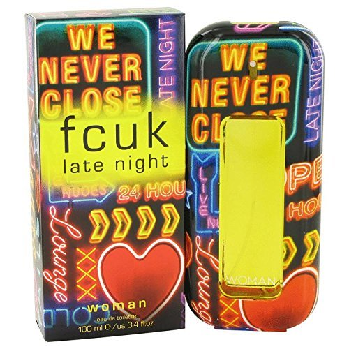 FCUK Late Night by French Connection Eau De Toilette Spray 3.4 oz for Women - 100% Authentic by French Connection
