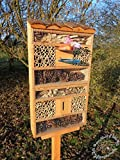 Insect Hotel with Feeder and Box Bark Natural...
