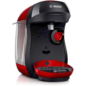 Bosch Tas1003 Cafetera Monodosis Multibebida, 1400 W, 0.7 litros, Rojo/Negro