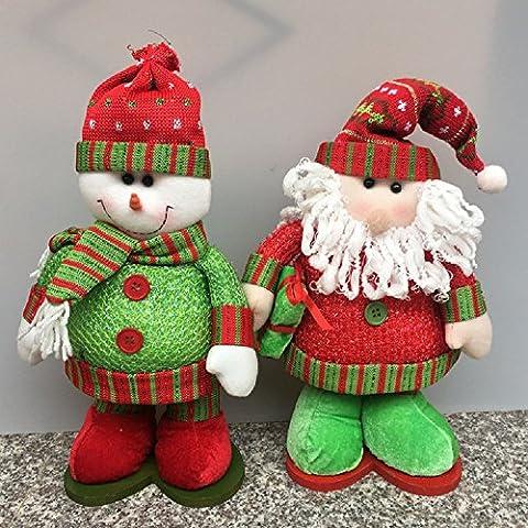Piernas XJoel muñecas telescópicas Navidad Decoración de Navidad telescópicas relleno de la felpa Juguetes Diversión de vacaciones de Santa Claus