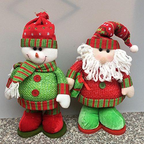 XJoel Noël poupées télescopiques Décoration de Noël Décoration Noël Télescopique Jambes Peluche Jouets en peluche Plaisir de vacances Personnages Santa Claus
