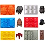 eighteen-u Star War a forma di muffa, set di 6 stampi in silicone flessibile per gli amanti di Star Wars Robots decorazione t
