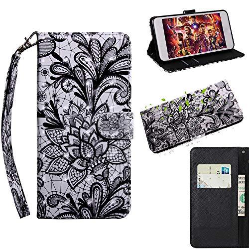 Nadakin Sony Xperia XA1/Z6 Leder Hülle Handyhülle Wallet Flip Case Standfunktion Kredit Kartenfächer Magnetverschluss PU Lederhülle for Sony Xperia XA1/Z6 (Spitze)