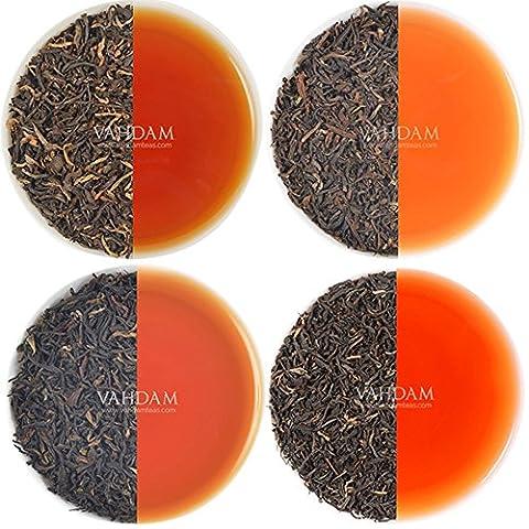 Luxury Black Tea Gift Set, 5 Exclusive Loose Leaf Teas Sampler, Perfect Christmas Tea Gift Set, Individually Sealed Tea Samplers - Ethical, Direct & Fair-Trade, Truly