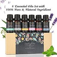 Hochwertiges Ätherisches Öl Set, Luckyfine Duftöl Set 6 Flaschen 10ml verschiedene Effekte für beste Gefühl höchste... preisvergleich bei billige-tabletten.eu