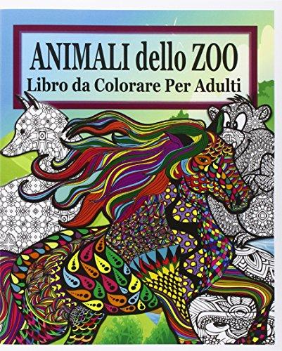 Libro animali dello zoo libro da colorare per adulti di - Zoo animali da colorare ...