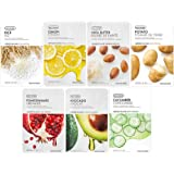 The Face Shop Unisex Instant Brightening Masksheet Combo (Pack Of 7), 140 g