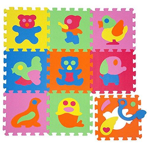 LittleTom Puzzlematte Spielmatte Tiere Spielteppich Schaumstoff Puzzle Kinderteppich