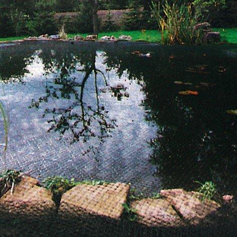 GartenStar 3056600 Teichabdecknetz 4x5m , 20x20mm Bändchen, grün/schwarz