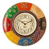 Vintage Clock Radiant Pine Wood Wall Clo...