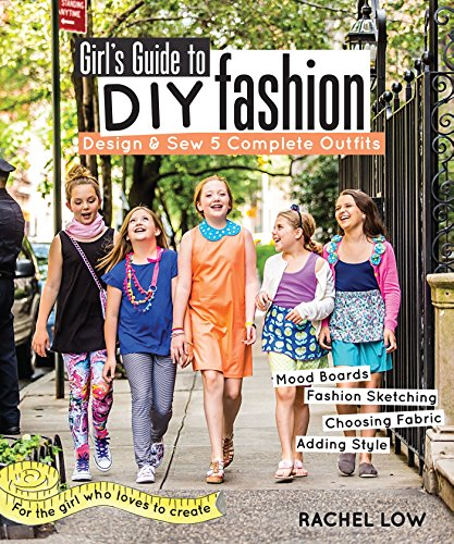 Girl's Guide to DIY Fashion: Design & Sew 5 Complete Outfits - Mood Boards - Fashion Sketching - Choosing Fabric - Adding Style (English Edition) Designer Fabric Hair Tie