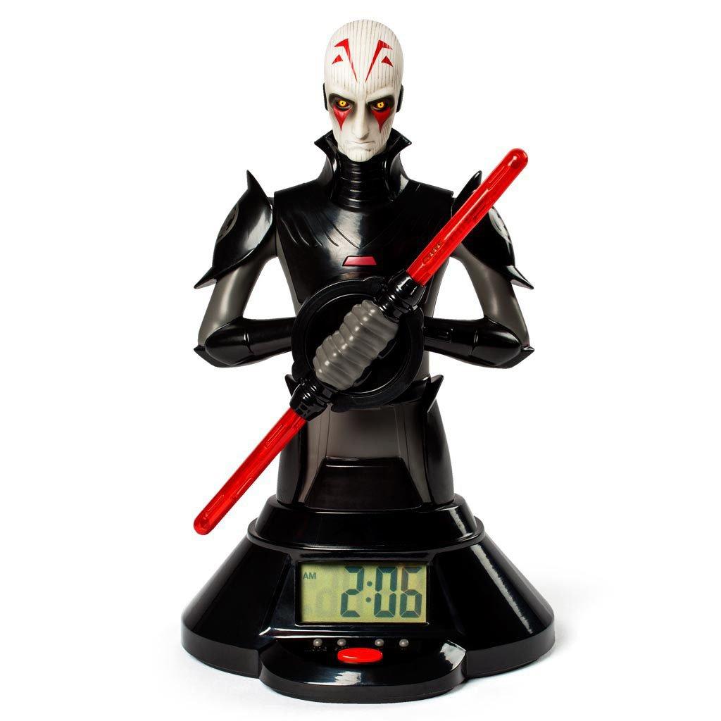 Star Wars Alarm Clock with Sound & Light Up Inquisitor Lightsaber 39 cm *English Version* Spin Maste