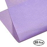 Zhi Jin Zhi Jin Farben Geschenkpapier Wasserdicht Blume Verpackung Papier Set für Weihnachten Urlaub 20Blatt/Pack violett