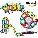 Crenova Magnetische Bausteine Regenbogen Inspirierender Standard Bausatz-Kreative und Pädagogische Spielzeuge-Riesenrad & Aufbewahrungstasche