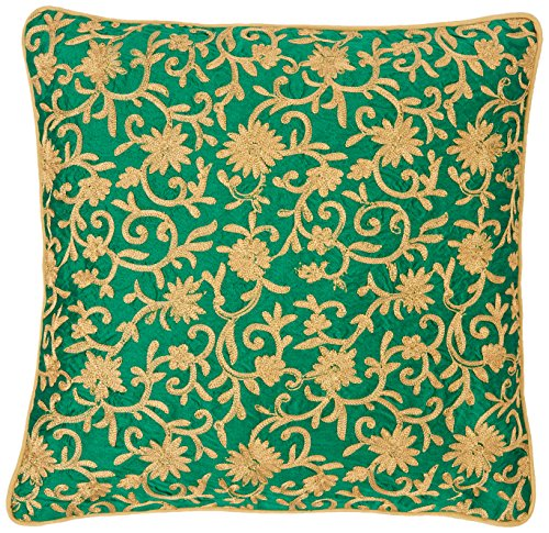 the-indian-promenade-16-x-4064-cm-dupion-seda-zari-funda-para-cojin-verde