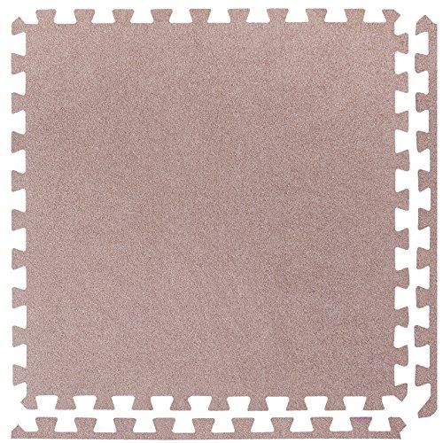 kt ineinandergreifende Schaumstoffmatten - Perfekt zum Bodenschutz, für die Garage, das Training, Yoga, Spielzimmer - EVA Schaumstoff (4 Fliesen, Grau) (Teppich Zu Teppich Schützen)