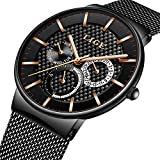 Best Designer Watches - Watches for Men,LIGE Stainless Steel Waterproof Sports Analog Review