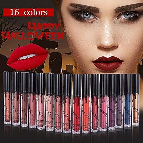 16 Couleurs Maquillage Waterproof à Lèvres Mat Liquide Beauté Brillant Rouge à Lèvres Lip Gloss Liquid Matte Longue Tenue Gloss Lipstick