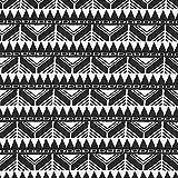 Fabulous Fabrics Jersey Jacquard Ethno Muster – schwarz/Weiss — Meterware ab 0,5m — zum Nähen von Tops und Shirts, Hosen und Röcken