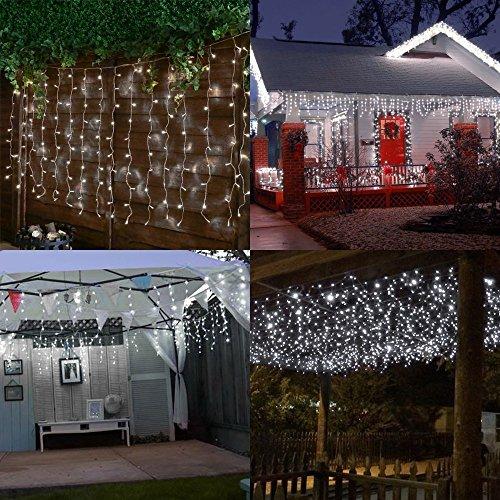 t Mit 8 Modi (Upgraded Low Voltage) Für Weihnachten Neujahr Party Hochzeit Home Decoration Fairy Lights Innen Party Garden Decorations 3m*3m weiß Lichterkette (Fairy Garden Party)