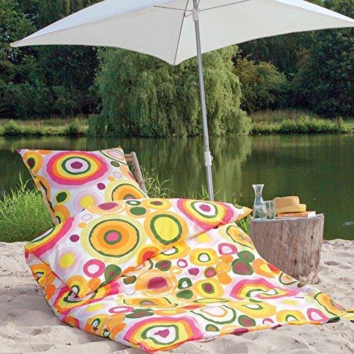 Janine Tango Mako-Soft-Seersucker-Bettwäsche 2451-04 orange-pink - 135x200 + 1 x 80x80 (Volle Größe-jersey-bettwäsche)