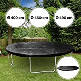 Abdeckplane - für Trampoline in verschiedenen Durchmessern: Ø 400 cm - 490 cm, UV-beständig -...