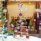 GBlife Alberi di Natale Artificiali Decorazione di Natale Materiale in Ferro Alberi di Natale Artificiali per la Casa Decorazione Natalizia con Supporto in Metallo 32 * 10 cm (Verde)