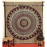 100% de alta calidad Mandala india Tapiz - Boho Serie indio étnico de la marcha del macho, elefante Mandala, Bohemia, Psychedelic extensión de la cama   100% tela de primera calidad CALIDAD   TAMAÑO REINA