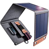 Solar Charger, CHOETECH 14W Waterproof Portable USB Outdoor Solar Panel Charger with 4 Foldable Solar Panel for Smartphone Ta