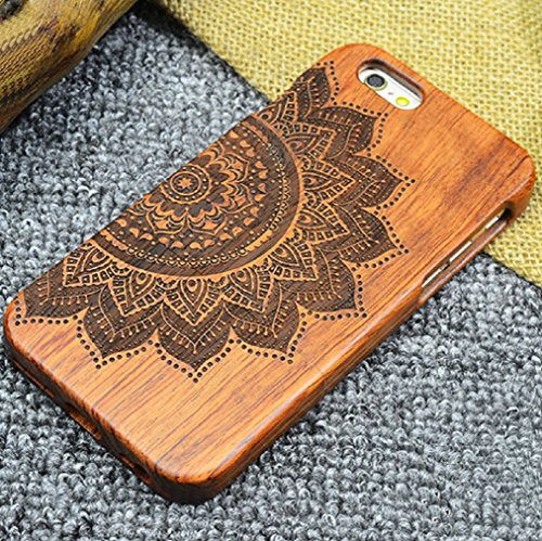 iPhone7/8 St. Benedict Exorcism Holy Cards Coque, CSPB CSSML NDSMD VRS NSMV SMQL IVB Catholicism Constantine Etui, Handmade Rosewood Wooden Etui, TAITOU Slim Wood Case For Apple iPhone 7/8 Lotus