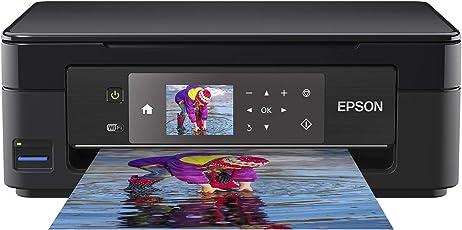 Epson Expression Home XP-452 3-in-1 Tintenstrahl-Multifunktionsgerät Drucker (Drucken, scannen, Kopieren, Wifi, 6,8 cm Display, Einzelpatronen, 4 Farben, Din A4) Schwarz