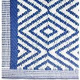 Alfombra de salón árabe azul de polipropileno para terraza de 160 x 230 cm Vitta - Lola Derek