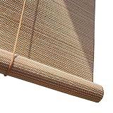 Bambusrollo- Bambus-Rollo Jalousien für Windows, 95% Lichtfilterung Fenster Sichtschutz Rollos- Buchweizenfarbe (Größe optional) (größe : 90x160cm)