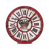 Uhr Vintage Style Nicht Ticken stille antike Holz Wanduhr für Home Kitchen Office Haus Garten Küche Zubehör Uhren Alarm elektrische Uhr