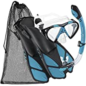 Cressi 1084KLPPG, Cressi Silicone Snorkeling Swim Mask Fin Snorkel Set, Adult AQ-SM (Sports & Outdoors)