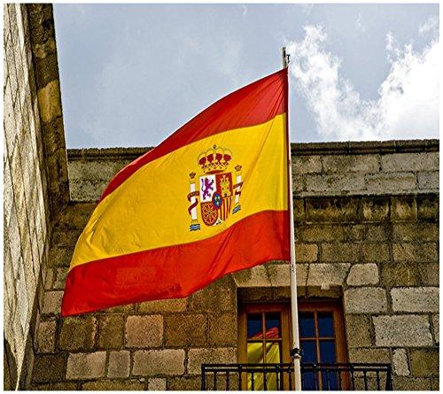 Foto de Bandera de España 150×90cm para La Decoración del Lugar Parezca Más Juvenil de Bandera Española