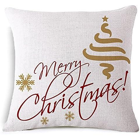 Generico L'Ufficio del regalo di Natale cuscino cuscino divano 45*45cm, traversina laterale 45*45cm Cuscino , luce verde regalo di Natale