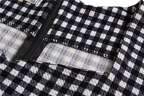 U-SHOT femmes de plaid à manches courtes élégant robe de demoiselle d'honneur soirée robe Sirène Noir 2