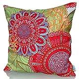 Sunburst Outdoor Living Dekorativer Kissenbezug/Kissenhülle CANDY 50cm x 50cm (Mit Biese) Hochwertiger Dekokissen-Bezug für Couch, Bett oder Sofa Bezug, Ohne Kissen