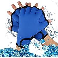 Guantes A-SZCXTOP de natación o buceo, forma de palma, sin dedos, Small
