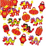 Chinese New Year Stickers for Children to Decorate Cards and Crafts (Pack of 100)