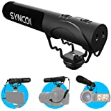 Synco Cameramicrofoon, Richtmicrofoon DSLR Shotgun Video Extern mikrofon Kondensator Super-cardioïde med windscherm 3,5 mm TR