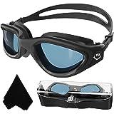 Volwassen zwembril,Gepolariseerde Open Water Goggles Zwemmen Anti Fog UV Bescherming Geen Lekkage Clear Vision Gemakkelijk aa