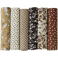 UOOOM Lot de 6 50 x 50 cm Patchwork coton tissu DIY Fait à la main en tissu à coudre Quilting Designs Différents