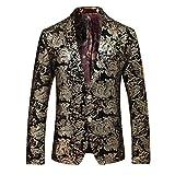 Men's luxury Casual Dress Suit Slim Fit Stylish Blazer Coats Jackets, Size L